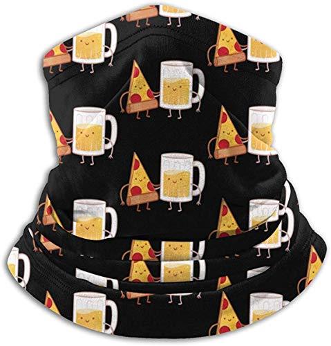 Paño facial para hombres y mujeres, compatible con pizza y cerveza, polaina para el cuello, bufanda, bufanda, bufanda, bufanda