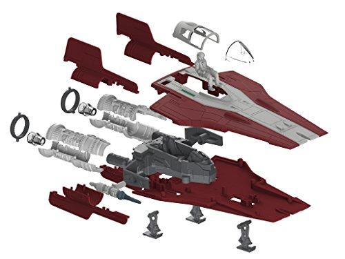 Revell Build & Play - Star Wars Resistance A-wing Fighter in rot - 06759, Maßstab 1:44, originalgetreue Nachbildung mit beweglichen Teilen, mit Light&Sound Effekten, robust zum Spielen
