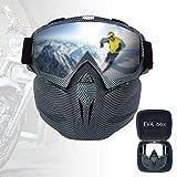Skibrille Maske Motocross Maske Maske Windsicher Für Sport Anti Skibrille Staubmaske Helm Kompatibel, Schneebrillen Für Männer & Frauen,A