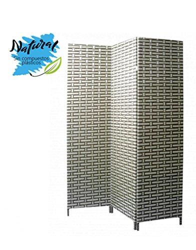Biombo Separador de ambientes, Green Natur de Bambú Natural, 3 Paneles, para Salón/Dormitorio 180 x 135 cm. - Hogar y más