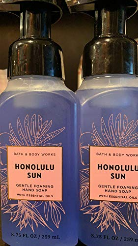 Bath and Body Works 2 Pack Honolulu Sun Gentle Foaming Hand Soap 8.75 Oz.