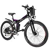ANCHEER e Bike Elektrofahrrad Mountainbike, 26/27.5 Zoll Reifen Elektrisches Fahrrad Ebike mit 250W bürstenlosem Motor und 36V 8Ah/10Ah Lithium-Batterie