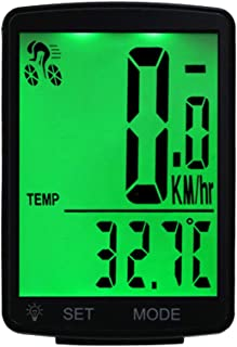 LIOOBO 2.8 Inch Bike Speedometer Odometer Wireless Waterproof Multi Functions Cycle Bike Computer with LCD Display (Green Light)