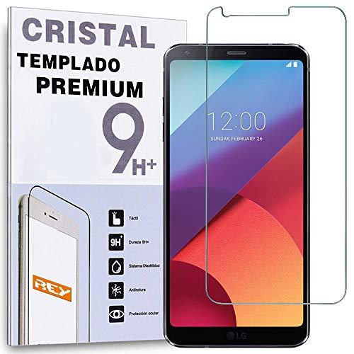 REY Protector de Pantalla para LG G6, Cristal Vidrio Templado Premium