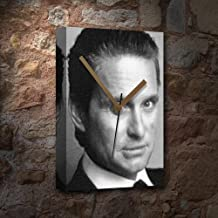 MICHAEL DOUGLAS - Canvas Clock (LARGE A3 - Signed by the Artist) #js002