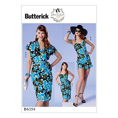 Butterick Patterns 6354A5Misses/Petite Bolero/Bustier/Abnehmbarer Schulterriemen und Gürtel Schnittmuster, Größen 6–14