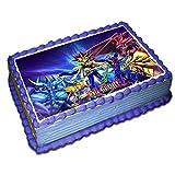 Yugioh Cake Topper 1/4 8.5 x 11.5 Inches Birthday Cake Topper