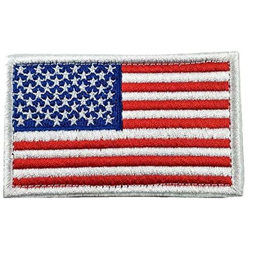 TOSSPER Thread 1pc Bordada La Bandera De USA La Bandera Americana Parches Bordados Tácticas Remiendo del Hierro En Los Pegatinas para La Ropa De Los Pantalones Vaqueros