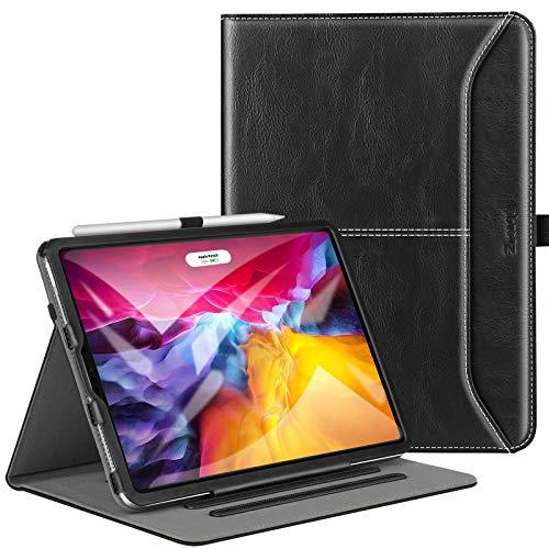 Ztotop - Funda para iPad Pro de 11 pulgadas, 3ª generación, iPad Pro 11 2021, funda de piel con función atril y función atril, soporte para lápices, múltiples ángulos de visión, color negro
