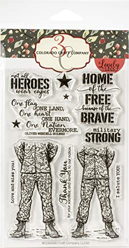 Colorado Craft Company LL232 Colorado Clear Stamp, Military Strong-Lovely Legs
