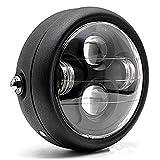 TASWK Motorcycle Black 6.5' Headlight Projector Head Lamp Hi/Lo Beam Bobber Chopper