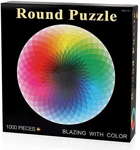 Herize Puzzle 1000 Piezas Adultos para Niños | Puzzle de Mil Colores del Arco Iris Creativo Puzzle Juegos Educativos Regalos Hombre de Rompecabezas para la Damilia Decoración del Hogar 70 x 50 CM