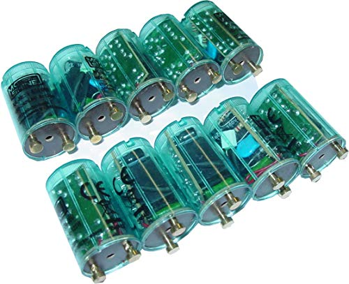 10 Stück Schnellstarter, Sofortstarter für Neonröhren, elektronisch, 4-125Watt