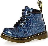 Dr. Martens Infant Patent Black 15373003 - Zapatos con cordones unisex para niños, color Azul, talla 19 EU