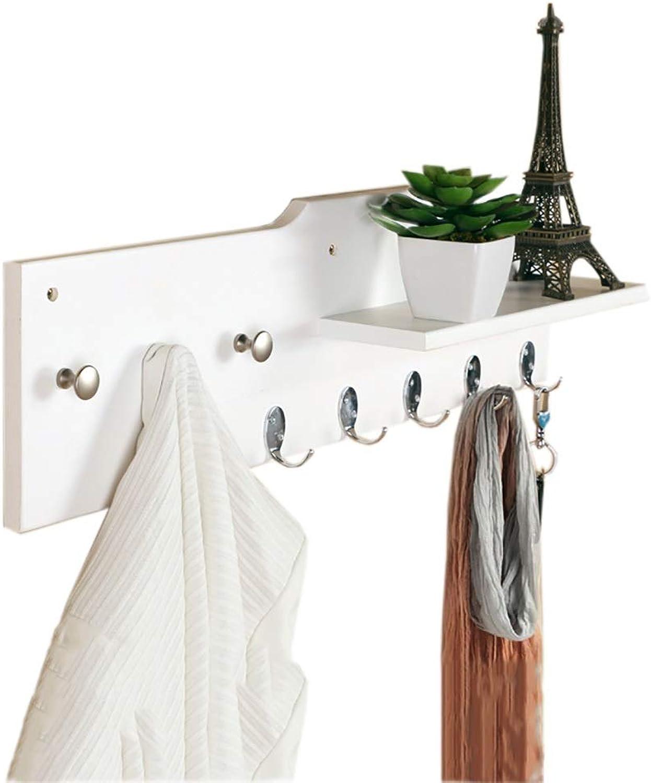 Coat Hook Wooden Coat Rack Wall Hanging Hanger Simple Modern Pine Hook Coat Rack(70cm20cm)