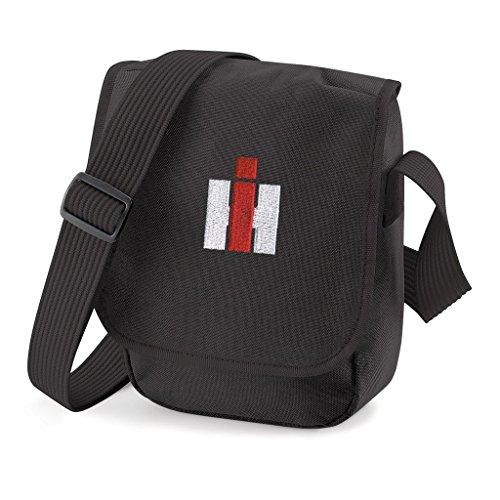 Bimaxx® Tasche | IHC Harvester | Schultertasche mit Motiv, rot/weißer Stick | Verstellbarer Schultergurt | Umhängetasche