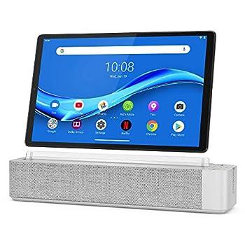 Lenovo Smart Tab M10 Plus FHD 10.3  Android Tablet Alexa-Enabled Smart Device Octa-Core Processor 64GB Storage 4GB RAM Wi-Fi Bluetooth ZA6M0017US Platinum Grey