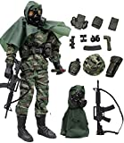Click N' Play Military Marine Nuclear Biological Chemical (NBC) Specialist 12' Action Figure Play Set with Accessories, Brown CNP30466