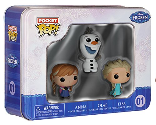 Funko 4797 Pocket POP Tin Frozen Elsa Anna Olaf Figure (Pack of 3)