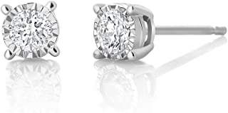illusion setting diamond earrings
