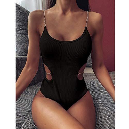 LinZX Las Mujeres Atractivas del Traje de baño de la Colmena de la Oreja Toallas de baño Madera empujan hacia Arriba Traje de Verano Playa de Bikini Bottom Ropa Traje de baño,93222,S