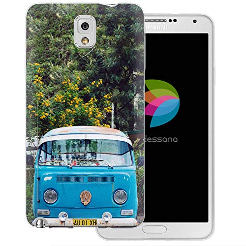 dessana Oldtimer transparante silicone TPU beschermhoes 0,7 mm dunne mobiele telefoon soft case cover tas voor Samsung Galaxy S Note, Samsung Galaxy Note 3, Oldtimer bus