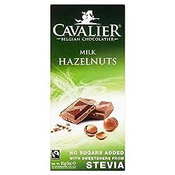 Cavalier Milk Chocolate with Hazelnuts Bar 85g - Pack of 2 Quantity: 2