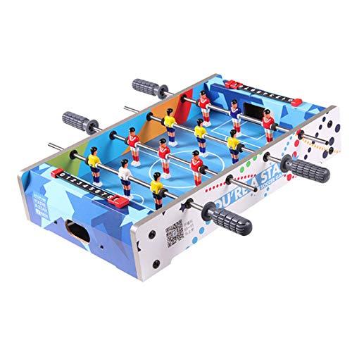 haohaiyo Futbolín de mesa, juguete de fútbol para niños, juguete interactivo, juego portátil, para interiores y exteriores, deportes de ocio