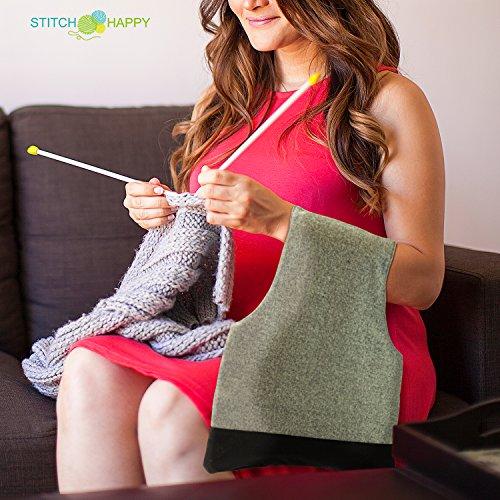 Stitch Happy Arm Yarn Organizer Tote Bag – Wrist Style, No-Snag, Ergonomic Knitting & Crochet Project Travel Storage