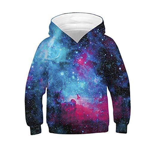 Sudadera con capucha para nios y nias, divertida con estampado en 3D, diseo de galaxia espacial
