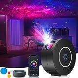 LED Sternenhimmel Projektor,3D Galaxy Projektor Light mit RGB Dimming,Smart Nachtlicht mit Alexa/Google Assistant,Unterstützt Sprachsteuerung & Timing-Funktion für Schlafzimmer/Geschenk/Party