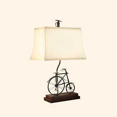 HUANGDA Lámpara de Mesa Creativa de la Bicicleta de la ...