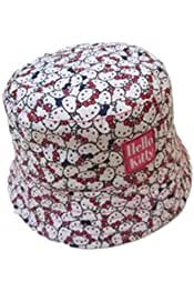 448d7a5f5 Kid Girl Bucket Hat Hello Kitty Toddler Cute Holiday Spring Beach Cap  Sun-Protection Outdoor