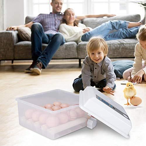 S SMAUTOP Incubadora de Huevos, Incubadora Automática con Giro y Eclosión Automáticos con Control de Temperatura y Pantalla LED, Máquina Incubadora de Huevos con Iluminación Incorporada Función