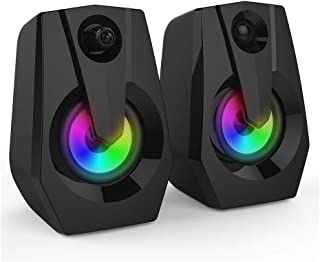Docooler Multimedia Bass Stereo Speaker Audio Player LED Colorful Light Double Speaker Mini Sound Blaster Audio TV Computer Speaker