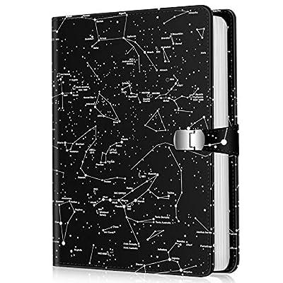 Fintie Photo Album 4x6 Photos - 112 Photos Premium Vegan Leather Cover with Snap Fastener, Portable Wallet Photo Albums (Constellation)