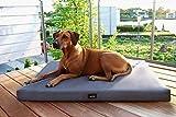tierlando® Orthopädische Hundematratze ALICE VISCO aus robustem Polyester 600D | Antirutsch | 9 cm | 60 80 100 120 150 cm S M L XL XXL 10 Farben (XL 120 x 90 cm, 2 Graphit)