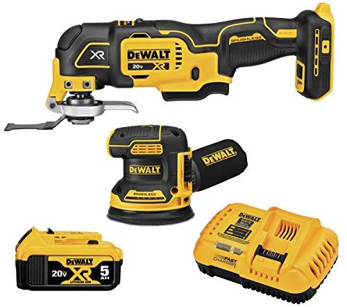 DEWALT DCK202P1 20V MAX XR Brushless Cordless 2-Tool Woodworking Kit (Sheet Sander & Multi-Tool)