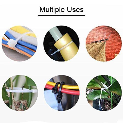 Wire Ties, HMfire 500 Pcs Adjustable