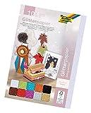 folia 880409 - Glitterpapier, 10 farbig sortiert, ca. 24 x 34 cm