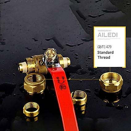 "1//2/"" 3//4/"" 1/"" Casing valve BSP Compression Lever Straight Ball Valves Full bore"