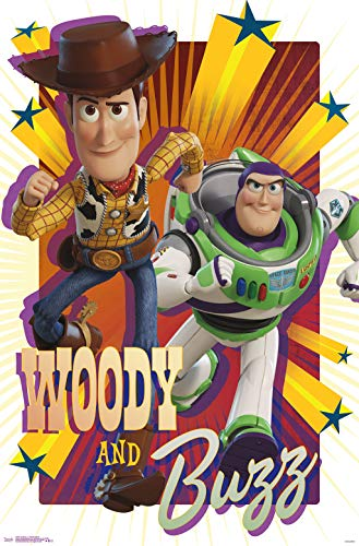 Trends International Disney Pixar Toy Story 4 - Woody and Buzz Wall Poster, 22.375' x 34', Unframed Version
