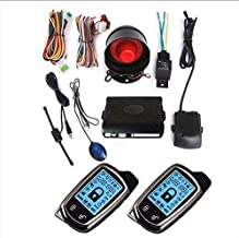 CarBest New Vehicle Security Paging Car Alarm 2 Way LCD Kit Automatic   Keyless entry system Car Burglar Alarm System-02
