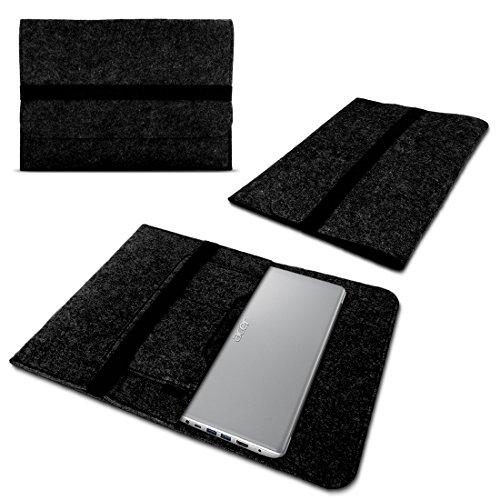 UC-Express Sleeve Tasche kompatibel für Acer Spin 3 - Spin 5 - Spin 5 Pro - Spin 7 13,3-14 Zoll Hülle Filz Schutzhülle Case, Farbe:Dunkel Grau