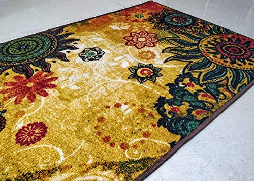 Chakra 1 alfombra de área piso alfombra de poliéster súper absorbente ecológico látex antideslizante alfombras dormitorios salón invernadero casa decoración juego Mat 150x80 cm