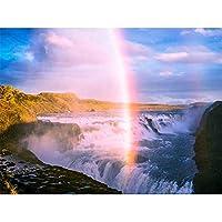 1000ピースジグソーパズル滝と虹のパズルパーソナライズされたジグソーパズル1000ピース38x26cm