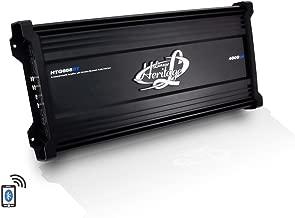 Lanzar Amplifier Car Audio, 4,000 Watt, 6 Channel, 2 Ohm, Bridgeable 4 Ohm, MOSFET, RCA Input, Bass Boost, Mobile Audio, Amplifier for Car Speakers, Car Electronics, Wireless Bluetooth