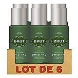 Brut - Deodorante spray da uomo, 200 ml, confezione da 6