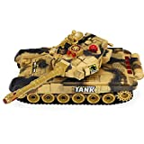 IIIL Fighting Battle Tanks RC, Infrared Battle Tanks with LED Life Indicators, 2.4Ghz Parent-Child Battle Tank Realistic Sounds and Lights Great Gift Toy for Kids, Adult, 331011CM,Yellow