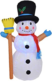 U-smile Christmas Inflatable Snowman,1.2M Large Inflatable Snowman Christmas Decoration with Lights Christmas Snowman Mold for Garden Outdoor Indoor Decoration